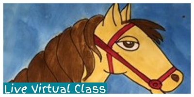 Kidcreate Studio - Greenville. How to Draw a Horse Workshop (5-12 Years) - LIVE VIRTUAL CLASS!