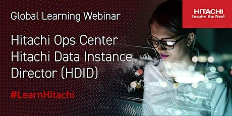 Hitachi Ops Center HDID (Hitachi Data Instance Director) (English) tickets