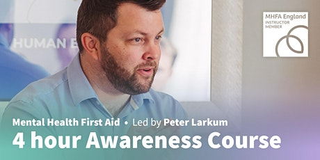 Mental Health First Aid (4 hour online) tickets