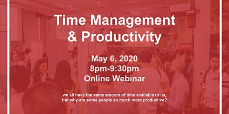 Time Management & Productivity (Webinar) tickets