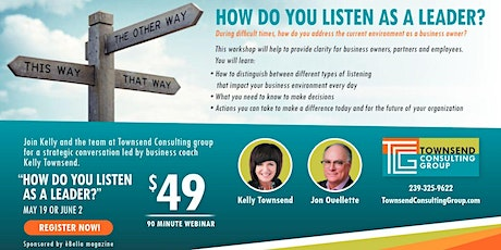 How Leaders Listen in Difficult Times | Part II: Virtual Business Workshop, June 2nd tickets