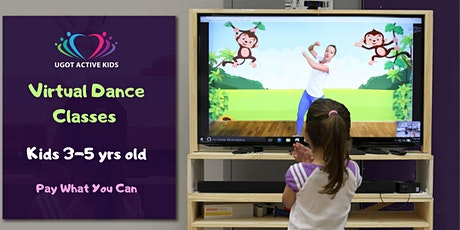 Virtual Dance Classes for Kids (3-5 yrs old) - April 13 - 24 tickets