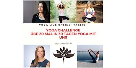 Yoga challenge - 20 mal Yoga in 30 Tagen Tickets