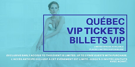 Opportunity Bridal VIP Early Access Quebec City Pop Up Wedding Dress Sale billets