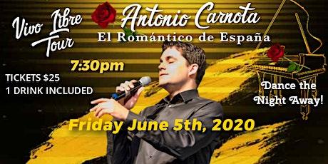 Antonio Carnota in Las Vegas Tour Vivo Libre tickets