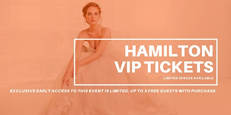 Opportunity Bridal VIP Early Access Hamilton Pop Up Wedding Dress Sale tickets