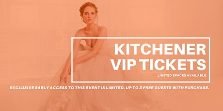 Opportunity Bridal VIP Early Access Kitchener Pop Up Wedding Dress Sale tickets
