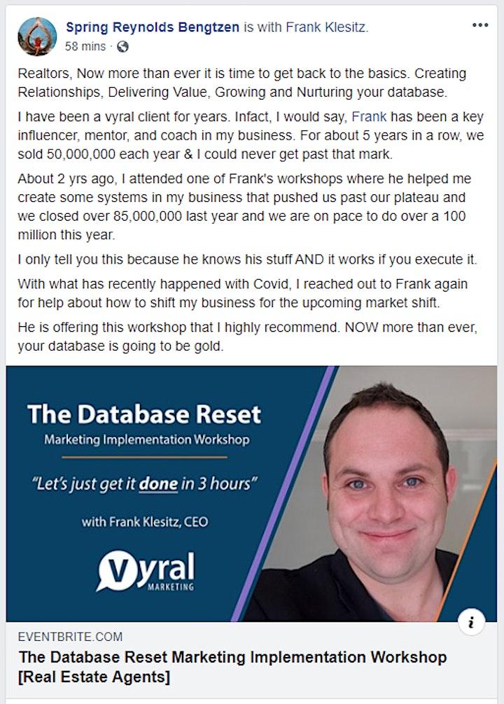 The Database Reset: Marketing Implementation Workshop [Real Estate Agents] image