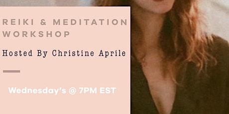 SocietyX Virtual - Reiki Meditation Workshop Hosted By Christine Aprile tickets