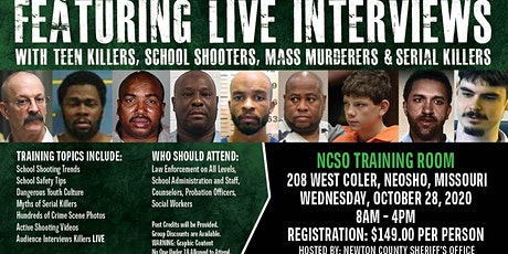 Profiling Teen Killers, School Shooters, Mass Murderers and Serial Killers by Phil Chalmers-Neosho, MO-Oct. 28, 2020 tickets