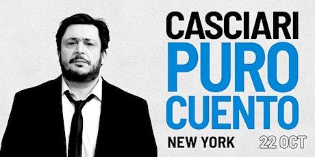 HERNÁN CASCIARI, «PURO CUENTO» — JUE 22 OCTUBRE, New York City tickets