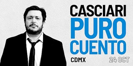 HERNÁN CASCIARI, «PURO CUENTO» — SÁB 24 OCTUBRE, Ciudad de México boletos