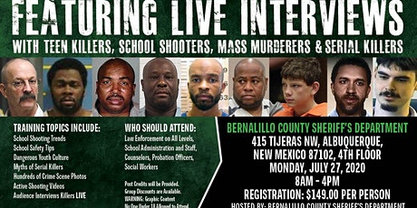 Profiling Teen Killers, School Shooters, Mass Murderers and Serial Killers by Phil Chalmer, Albuquerque, NM-July 27, 2020 tickets