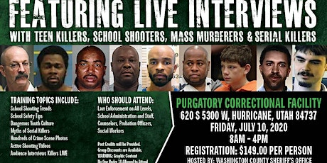 Profiling Teen Killers, School Shooters, Mass Murderers and Serial Killers by Phil Chalmers-Hurricane, UT-July 10, 2020 tickets