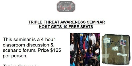 Triple Threat Awareness Seminar Missouri tickets