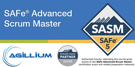 SAFe® Advanced Scrum Master SASM 5.0, LIVE ONLINE, Guaranteed to Run tickets