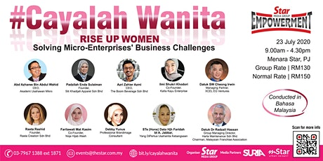 #Cayalah Wanita (Rise Up Women) 2020 tickets