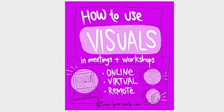 How to use VISUALS in meetings and workshops : online, virtual, remote tickets