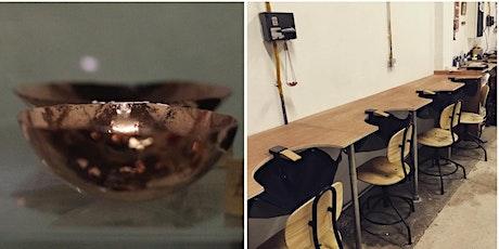 Miniature copper bowls tickets