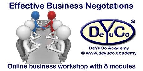 DeYuCo Academy Online Business Workshop Effective Business Negotiations tickets