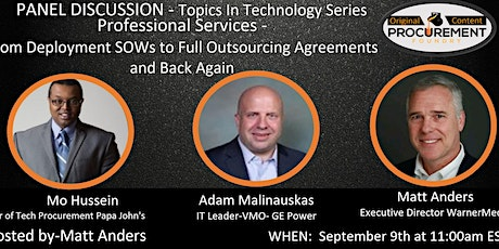 Topics in Technology Sourcing Series - Professional Services tickets
