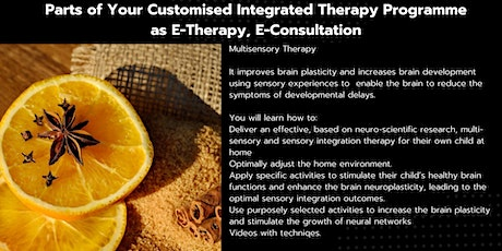 Free Consultation- ​​Multisensory Therapy as part of an Individualised Integrated Therapy Home Programme or Standalone E-Therapy/ E-Consultation tickets
