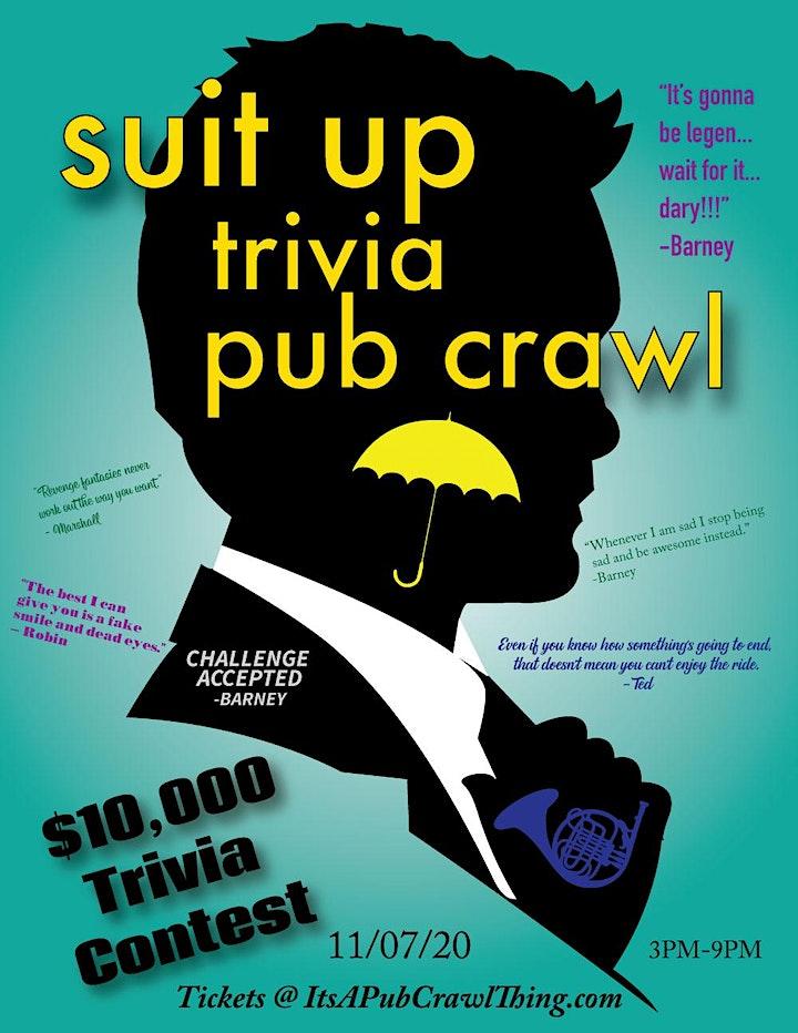 Pittsburgh - Suit Up Trivia Pub Crawl - $10,000+ IN PRIZES! image