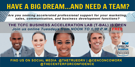 TCFC Business Acceleration Lab (T-BAL) Online with Dr. V tickets
