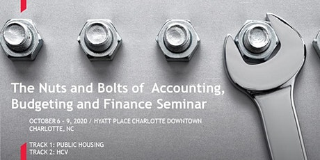 Nuts & Bolts of PHA Accounting, Budgeting and Finance tickets