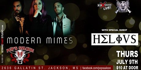 Modern Mimes / Helivs  Thursday, July 9th at Pops Saloon tickets