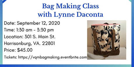 Bag Making Class with Lynne Daconta tickets