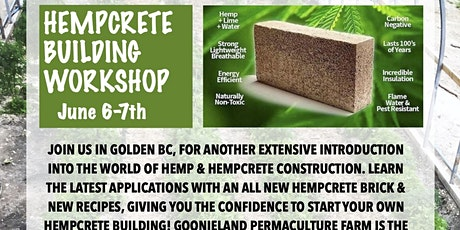 Hempcrete Natural Building Workshop tickets