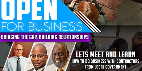 "Open for Business  ""Bridging the Gap "" ZOOM Webinar tickets"