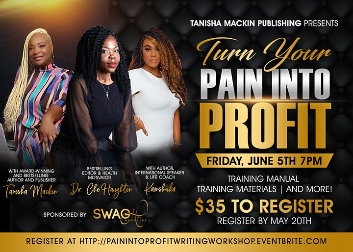 Turn Your Pain Into Profit Writing Workshop image