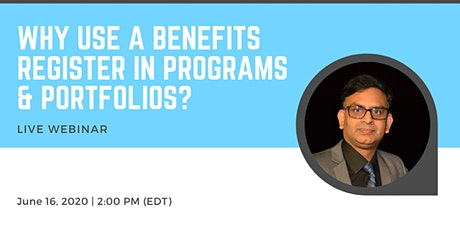 Why Use A Benefits Register in Programs & Portfolios? biglietti