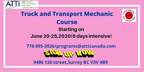 Truck and Transport Mechanic Course tickets
