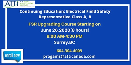 Continuing Education: Electrical Field Safety Representative Class A, B tickets