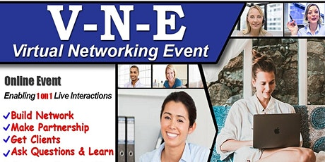 London's Exclusive Virtual Business & Startup Networking- Do 1 on 1 chat billets