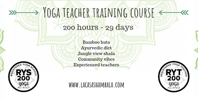 Oct 2020: 29 Day 200hr Hatha & Vinyasa Yoga Teache