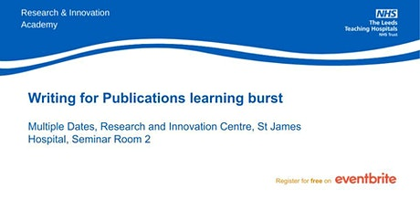 Writing for Publications learning burst- virtual teaching tickets