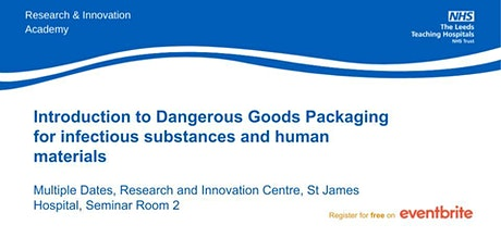 Introduction to Dangerous Goods Packaging for infectious substances tickets
