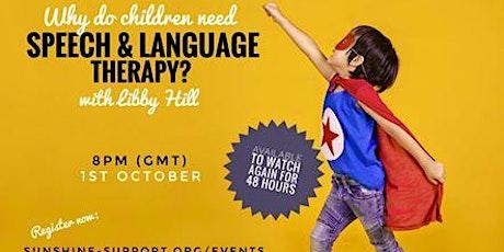 Speech and Language Webinar tickets