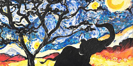 Online Event - Paint Starry Night Elephant! tickets