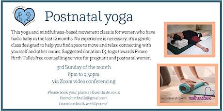 Postnatal yoga  tickets