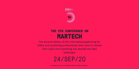 The 5th Conference on MarTech 2020 tickets