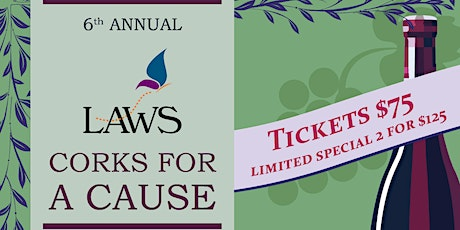 6th Annual Corks for a Cause- Postponed New Date Spring 2021 tickets