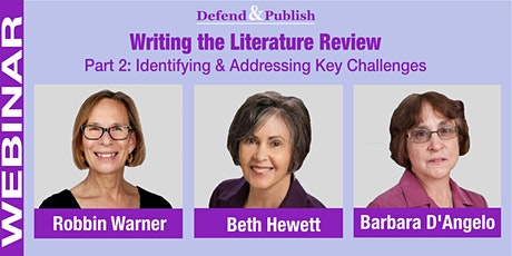WEBINAR: Writing the Lit. Review,  Part 2: Identifying Key Challenges tickets