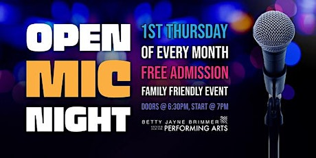 OPEN MIC AT THE BETTY JAYNE tickets