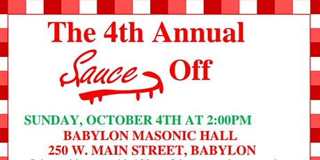 The 4th Annual Sauce Off tickets