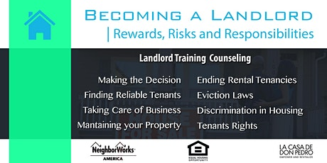 Becoming a Landlord -  Rewards Risks and Responsibilities. tickets